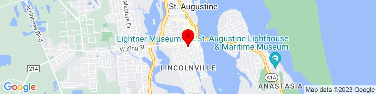 Google Map of 29.8907826, -81.31377049999999