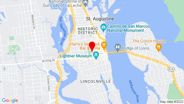 Google Map of 74 King Street , St Augustine, FL 32084