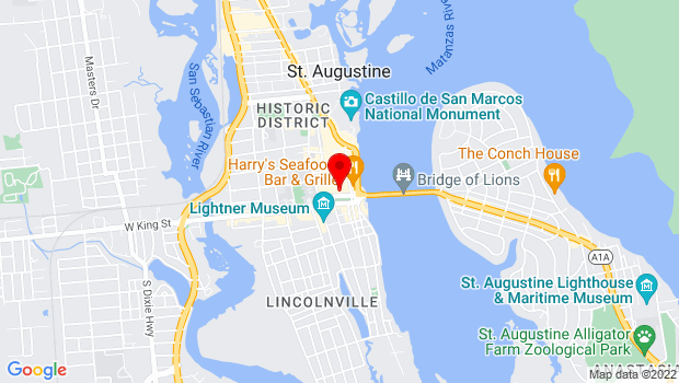 Google Map of 38 Cathedral Place, St. Augustine, FL 32084