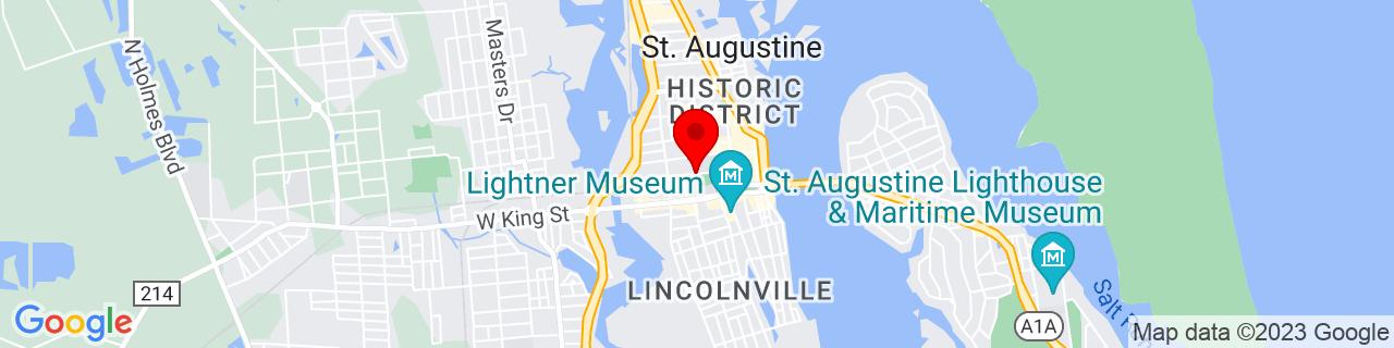 Google Map of 29.8934872, -81.31641619999999