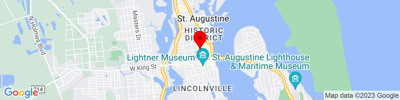 Google Map of 29.89472222222222, -81.31444444444445