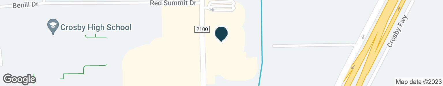 Google Map of14402 FM 2100 RD