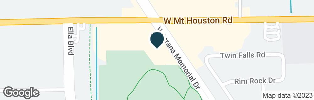 Google Map of9375 VETERANS MEMORIAL DR