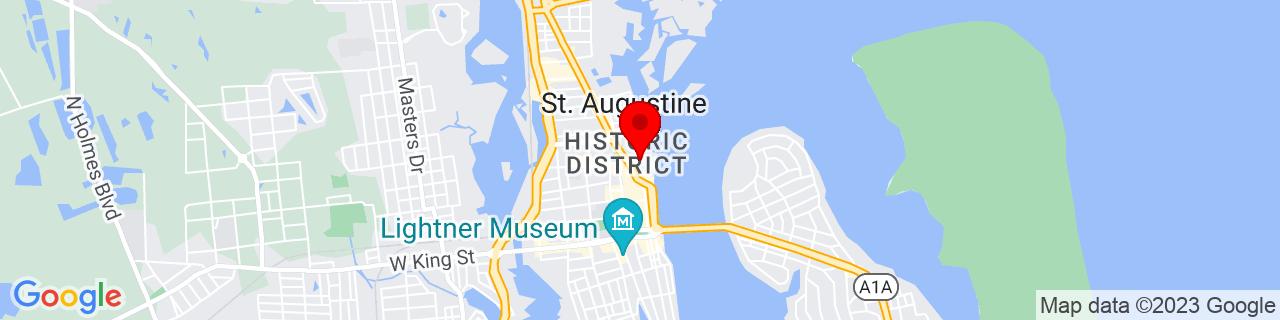 Google Map of 29.8978996276855, -81.3122024536133