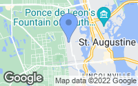 Map of St. Augustine, FL