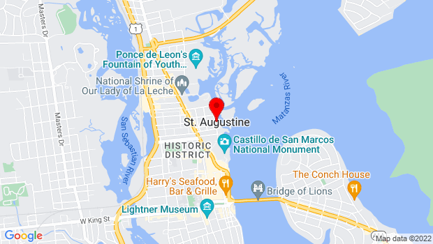 Google Map of St. Augustine downtown, St. Augustine, FL 32084