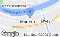 Map of Marrero, LA