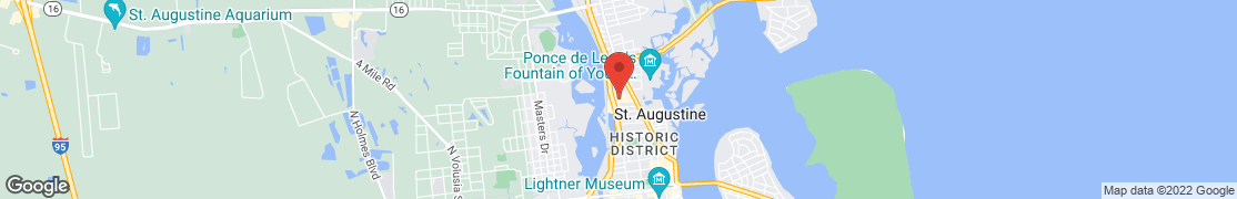 Map of 1300 N Ponce De Leon Blvd in Saint Augustine