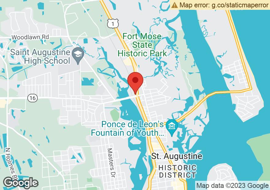 Google Map of 2801 N PONCE DE LEON BLVD