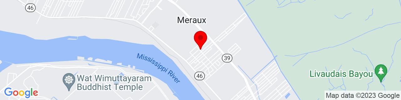 Google Map of 29.922704, -89.9122887