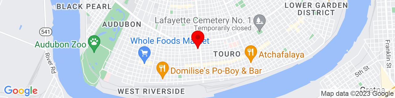 Google Map of 29.924618, -90.10257899999999