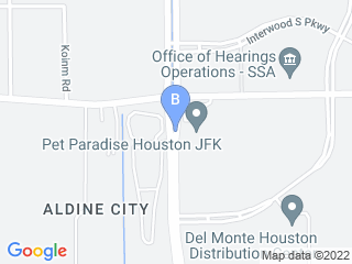 Map of Pet Paradise Resort Houston Dog Boarding options in Houston | Boarding