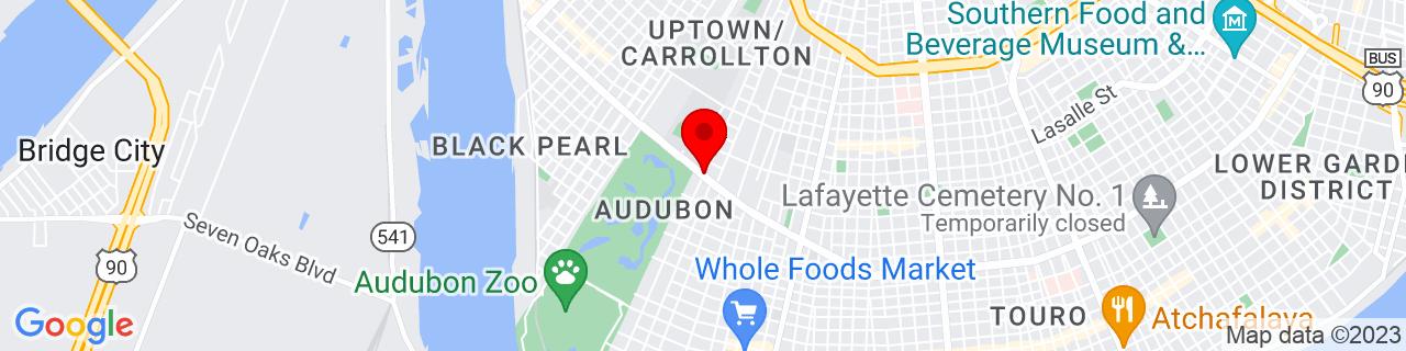 Google Map of 29.9329708, -90.1206176