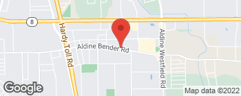 Map of 1315 Aldine Bender Rd in Houston