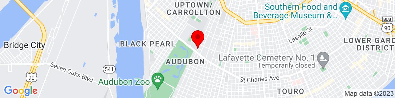 Google Map of 29.9337378, -90.1202527