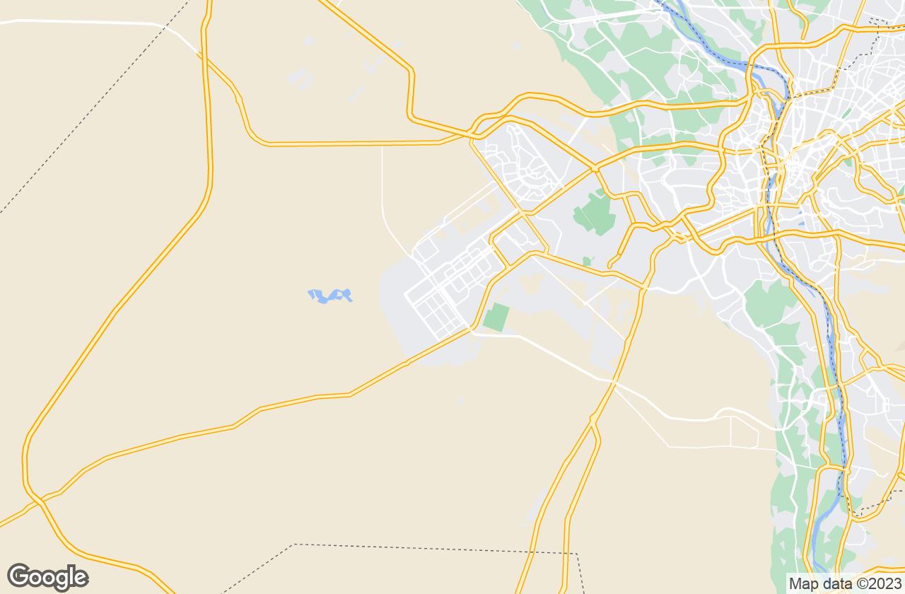 Google Map of مدينة ٦ أكتوبر
