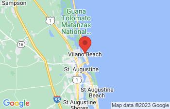 Map of Vilano Beach