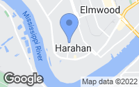 Map of Harahan, LA