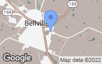 Map of Bellville, TX