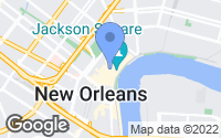 Map of New Orleans, LA