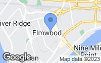 Map of Elmwood, LA