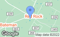Map of Red Rock, TX