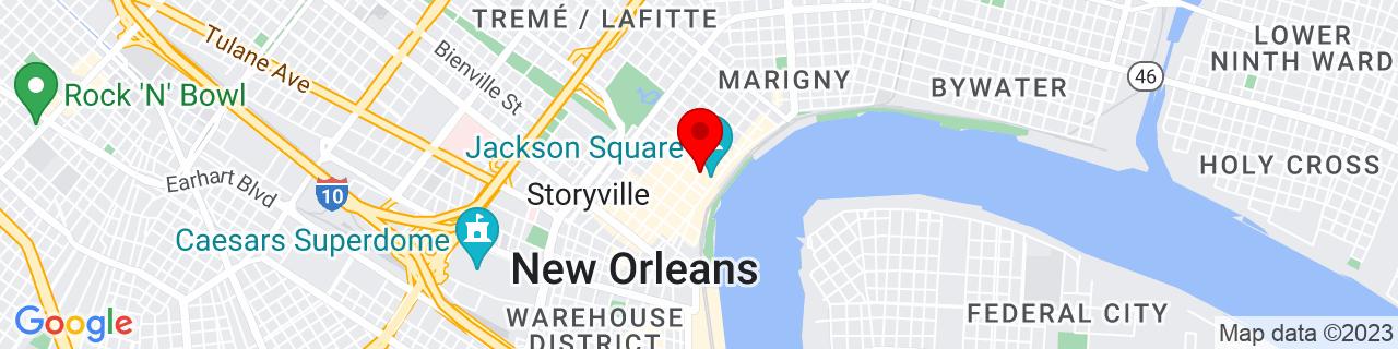 Google Map of 29.9575051, -90.06377859999999