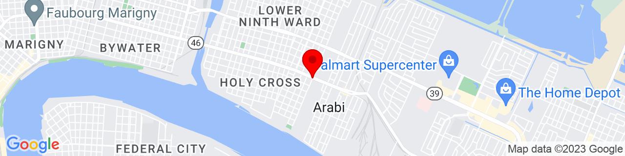 Google Map of 29.9587629, -90.0082235