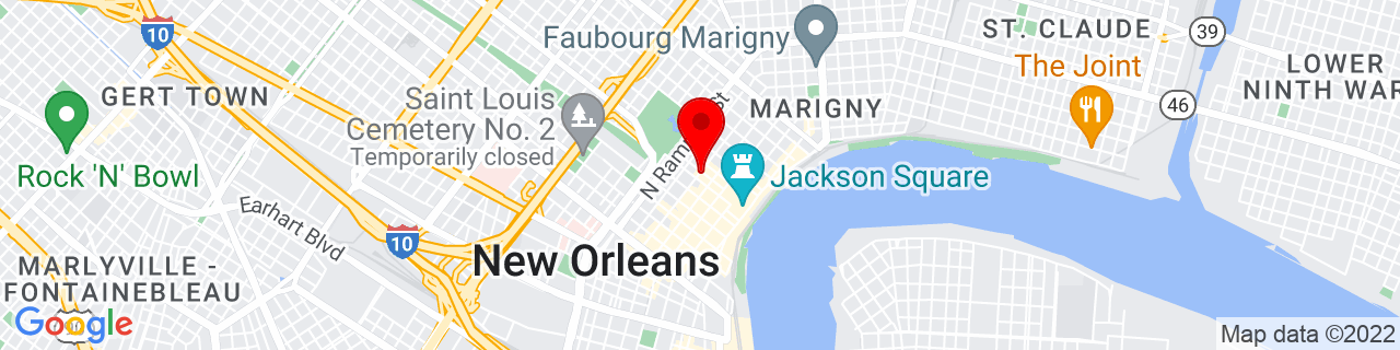 Google Map of 29.959442, -90.066199
