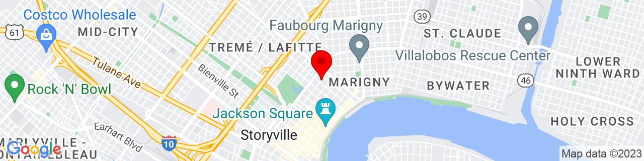 Google Map of 29.9641494, -90.0635607