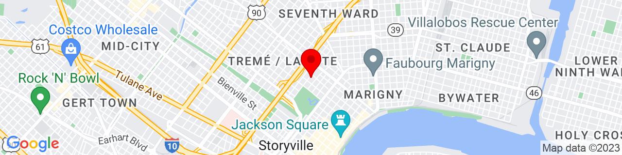 Google Map of 29.9664684, -90.06816049999999
