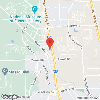 Map of DeMontrond Volvo Cars at 14101 North Freeway, Houston, TX 77090