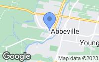 Map of Abbeville, LA