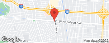Map of 4532 W Napoleon Ave in Metairie