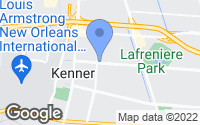 Map of Metairie, LA