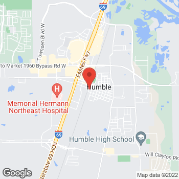 Map of Bellatrix Vivas, MD at 104 E Main Street, Humble, TX 77338
