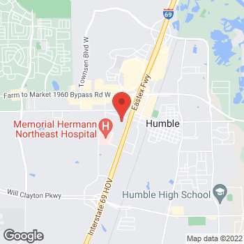 Map of Rebecca Hill, MD at 19333 Hwy 59 North, Humble, TX 77338