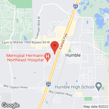 Map of Anna Almaguer, NP at 19333 Hwy 59 North, Humble, TX 77338