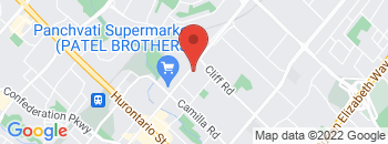 Google Map of 290+Dundas+St+E.%2CMississauga%2COntario+L5A+1W9