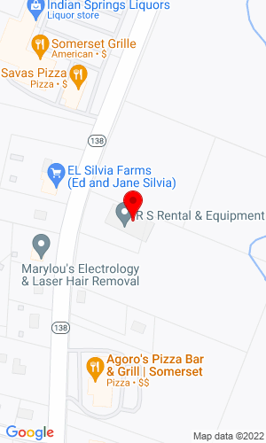 Google Map of RS Equipment 2900 County Street, Somerset , MA, 02726