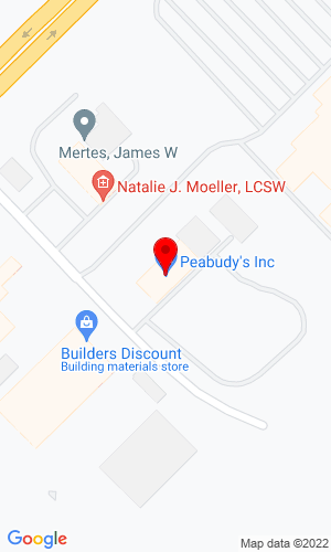Google Map of Peabudy's Inc 2900 Polo Road, Sterling, IL, 61081