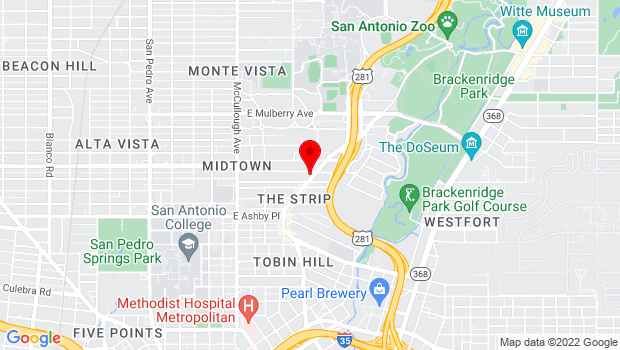 Google Map of 2911 N Saint Marys St, San Antonio, Texas 78212, San Antonio, TX 78212