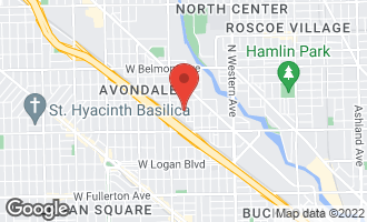 Map of 2914 North Washtenaw Avenue CHICAGO, IL 60618