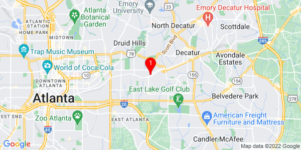 Google Map of 292 gorden avenue NE Atlanta, 30307
