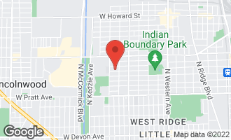Map of 2920 West Greenleaf Avenue CHICAGO, IL 60645