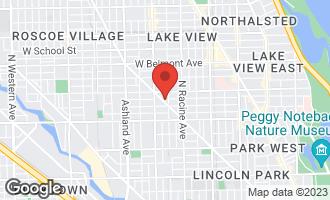 Map of 2921 North Lincoln Avenue #302 CHICAGO, IL 60614