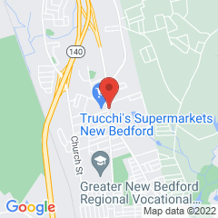 Map marking location of New Bedford branch