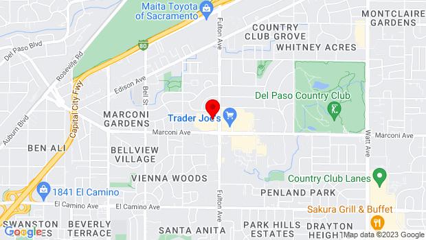 Google Map of 2929 Fulton Ave., Ste. 2941-B, Sacramento, CA 95821