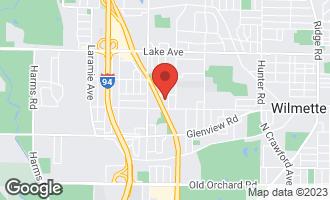 Map of 2936 Greenleaf Avenue WILMETTE, IL 60091