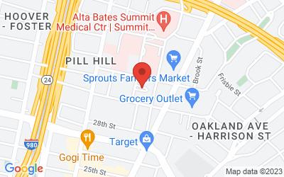Map of Oakland-Pill Hill